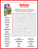 ALABAMA State Symbols Word Search Puzzle Worksheet Activity