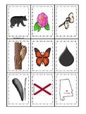 Alabama State Symbols themed Memory Match Game. Preschool Game