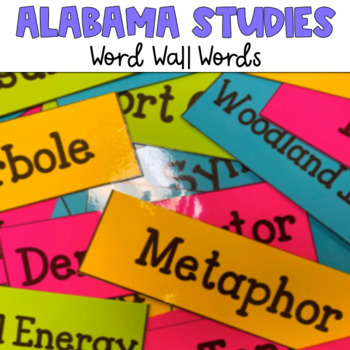 Alabama Studies Weekly Word Wall - Grade 4