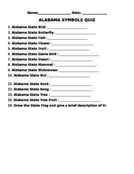 Alabama Symbols
