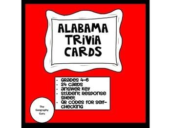 Alabama Trivia Task Cards