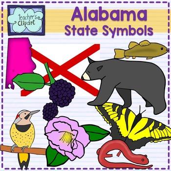 Alabama state symbols clipart