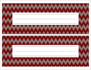 Alabama Themed Crimson and Gray Name Plates/Desk Tags/Word Wall-editable
