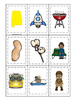 Alabama themed Memory Matching and Word Matching preschool curriculum game.