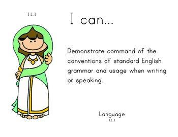 Aladdin 1st grade English Common core standards posters