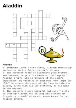 Aladdin Crossword