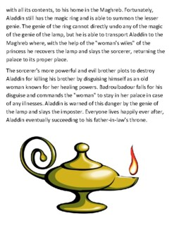 Aladdin Story Handout