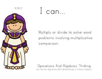 Aladdin Theme 4th grade math Common Core Posters fourth Gr