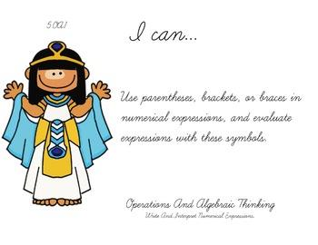 Aladdin Theme 5th grade math Common Core Posters Fifth Grade Standards
