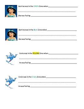 Aladdin ZONES worksheet