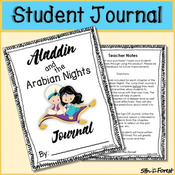 Aladdin and the Arabian Nights Novel Study Prologue and Chapter 1 FREEBIE