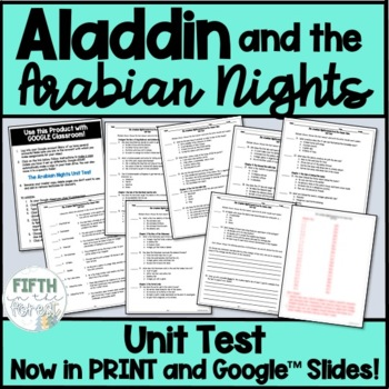 Aladdin and the Arabian Nights Unit Test
