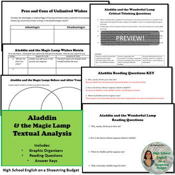 Aladdin and the Magic Lamp Activity Bundle, PDF version