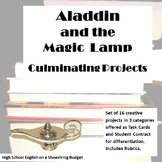 Aladdin and the Magic Lamp Culminating Projects [Task Cards]