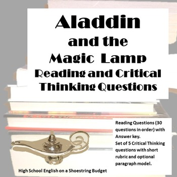Aladdin and the Magic Lamp Reading and Critical Thinking Q