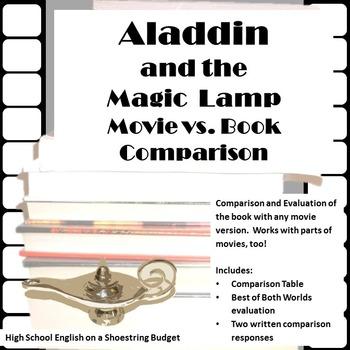 Aladdin and the Magic Lamp Movie vs. Book Comparison
