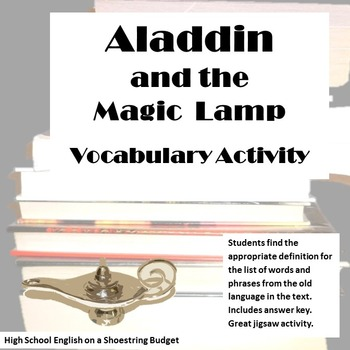 Aladdin and the Magic Lamp Vocabulary Activity