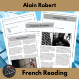 Alain Robert - the French Spiderman - reading & questions