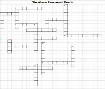 Alamo Crossword Puzzle and Wordsearch