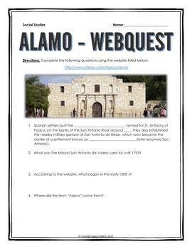Alamo - Webquest with Key