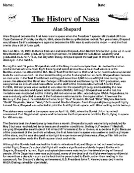 Alan Shepard Article and Summary/Illustration Assignment
