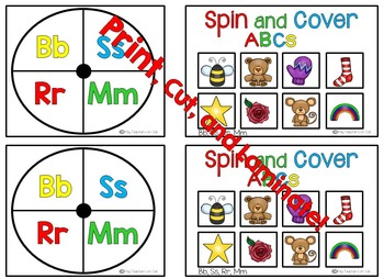 Alphabet Game: Letter-Sound ID {Spin and Cover}