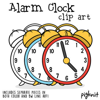 alarm clock clipart separate pieces for creating your own time rh teacherspayteachers com free clipart alarm clock alarm clock clipart black and white