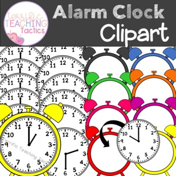 Alarm Clock Clip Art (Telling Time to the Hour/Half Hour)