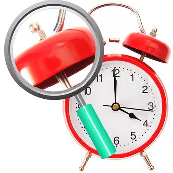 Alarm Clock O'Clock Time Photos Clip Art Set for Commercial Use