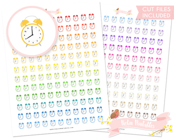 Alarm Clock Printable Planner Stickers
