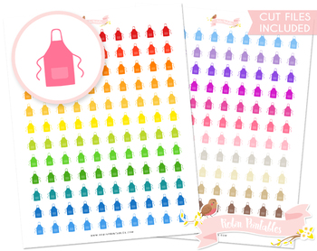 Apron Printable Planner Stickers