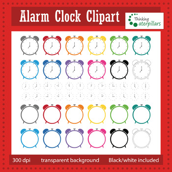 Alarm clocks clip art, telling time