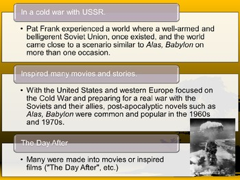 Alas Babylon PowerPoint Presentation Background Novel Information