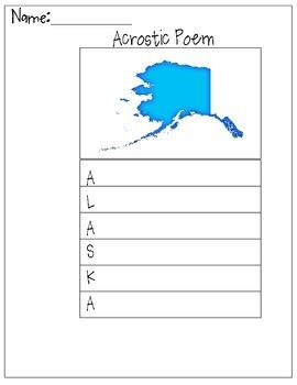 Alaska Acrostic Poem