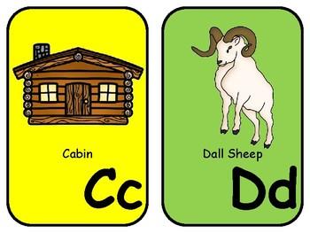 Alaska Alphabet Cards for Classroom Display