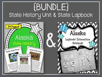 Alaska {BUNDLE} Lapbook & Interactive Notebook and Alaska State History Unit