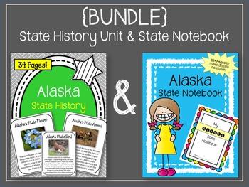 Alaska  {BUNDLE} State Notebook and Alaska State History Unit.