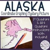 Alaska Coordinate Graphing Picture 1st Quadrant & ALL 4 Quadrants