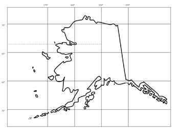 Alaska Map longitude and latitude