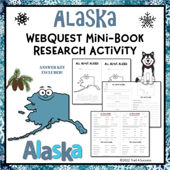 Alaska Webquest Mini Book Research Activity