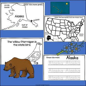 Alaska Mini Book for Early Readers - A State Study