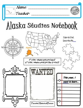 Alaska Notebook Cover
