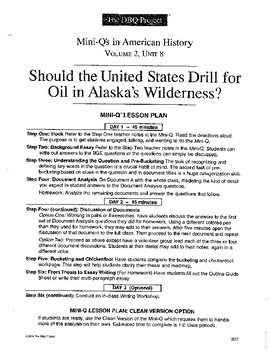 Alaska Oil: DBQ