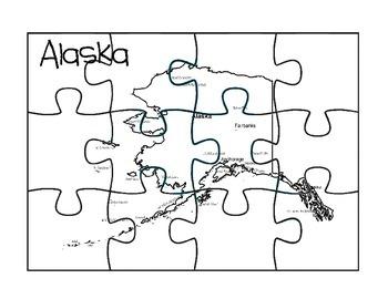 Alaska Puzzle Map