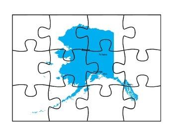 Alaska Puzzle Map Activities