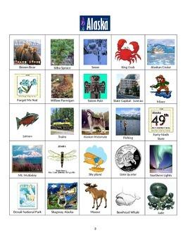 Alaska Sites and Symbols Bingo