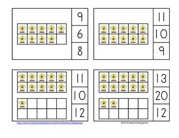 Alaska Ten Frames Math Centers Quantities to 20