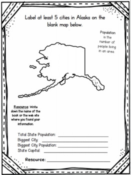 Alaska State Research Report Project Template Bonus Timeline Craftivity AK