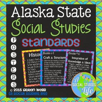 Alaska State Social Studies Standards Posters
