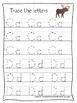Alaska State Symbols themed A-Z Tracing Worksheets. Preschool Handwriting